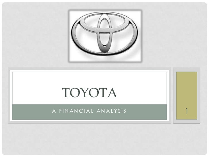 financial analysis of toyota