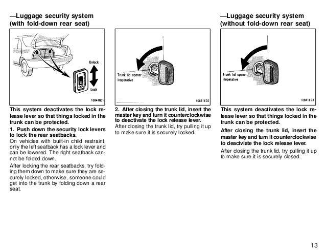 service manual  how to reset security system on a 1997