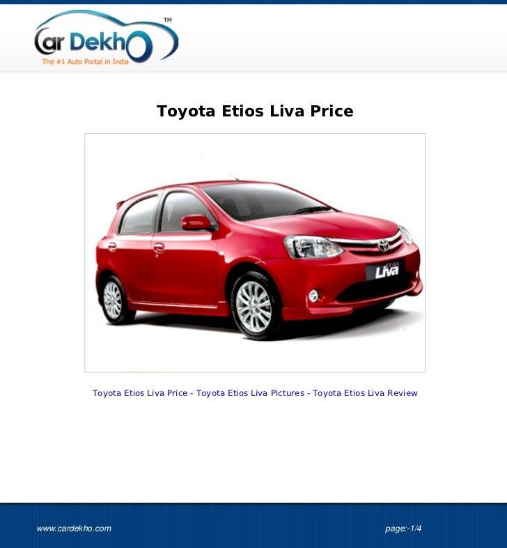 Toyota Etios Liva Price 01Oct2012