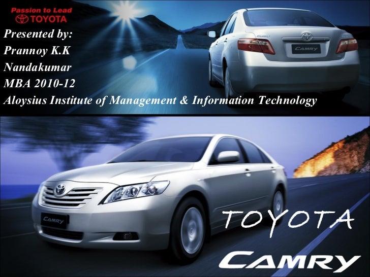 Toyota- International business mgt