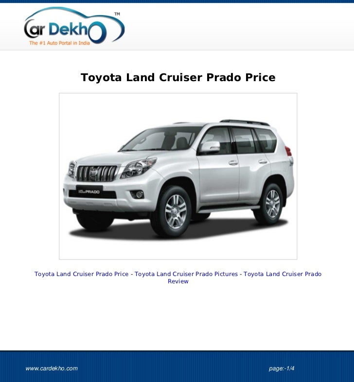Toyota Land Cruiser Prado Price  Toyota Land Cruiser Prado Price - Toyota Land Cruiser Prado Pictures - Toyota Land Cruise...