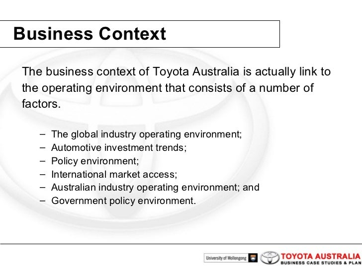 toyota business plan Strategic deployment: how to think like toyota the plan-do-check act cycle of continuous improvement is at the a dynamic business environment exacerbates.