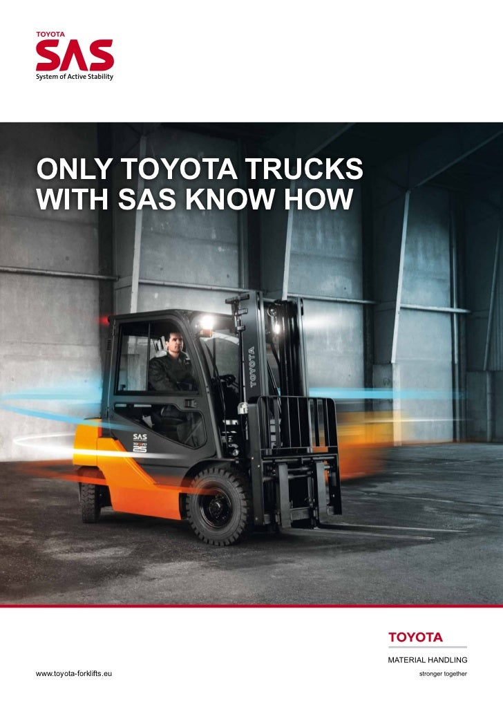 Toyota System of Active Stability – TMHE's Forklift Safety Initiative