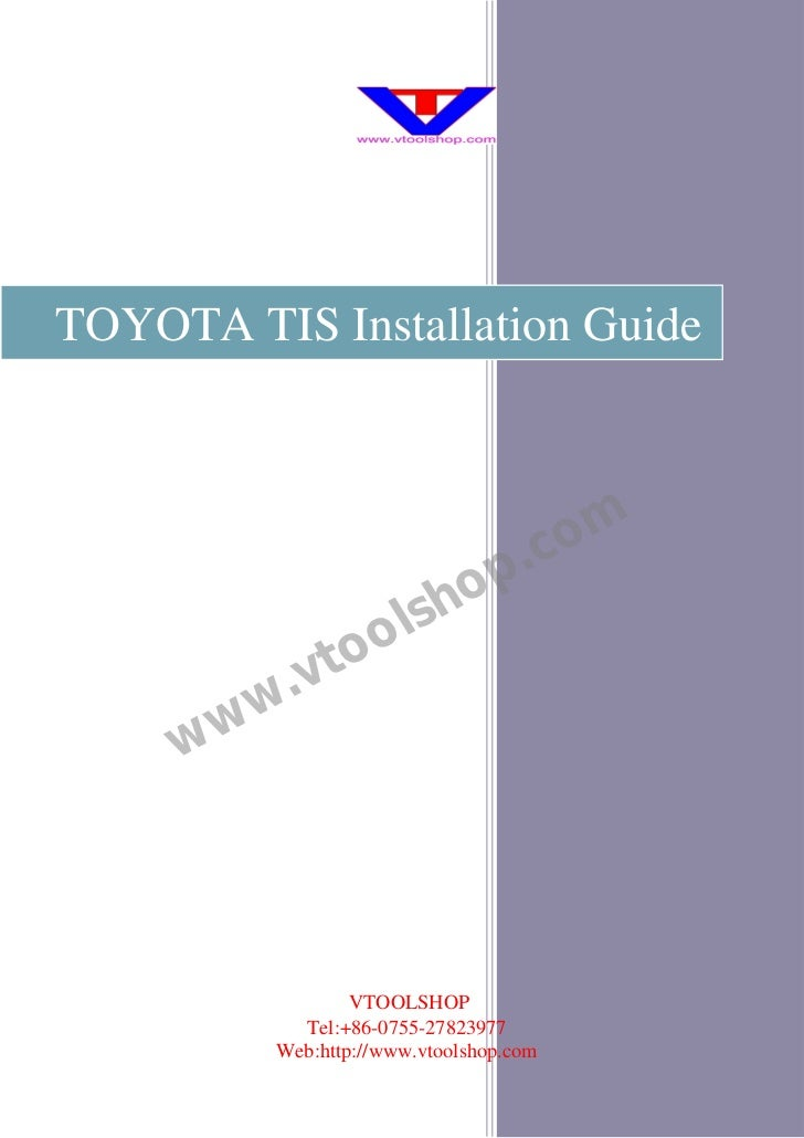 TOYOTA TIS Installation Guide                                     .c om                          sh op                to o...