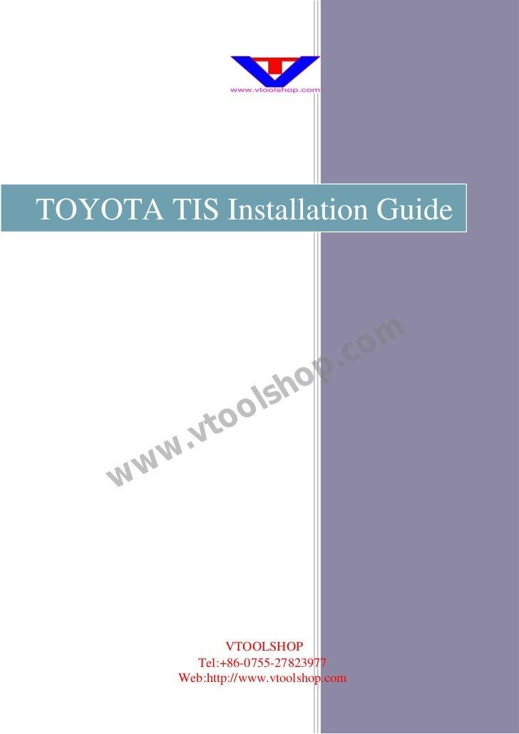 Toyota tis-installation-guide-english