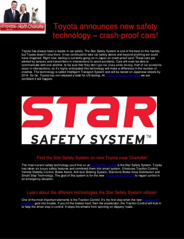 Toyota Announces New Safety Technology Crash Proof Cars