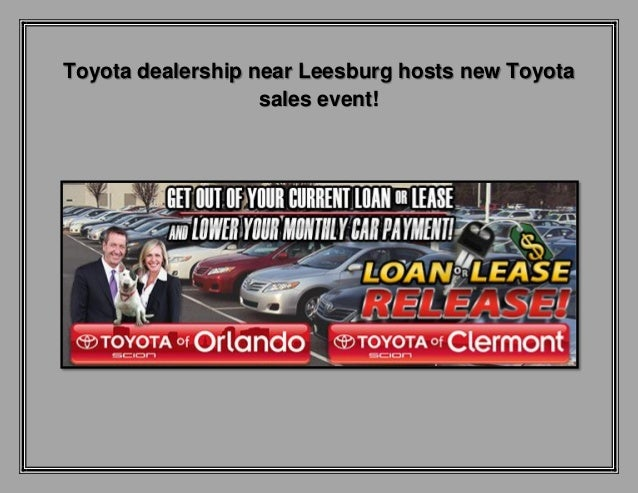 Toyota dealership near leesburg hosts new toyota sales event
