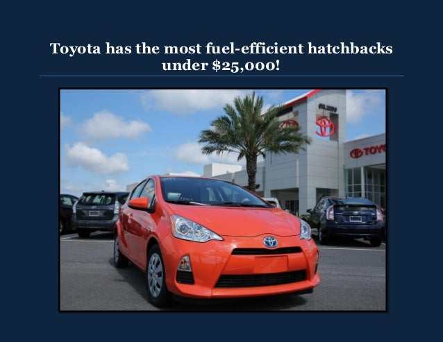 Toyota has fuel efficient hatchbacks for under $25,000!