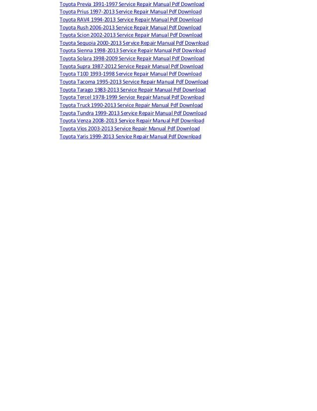 Toyota highlander electrical wiring diagram manual pdf download 2001