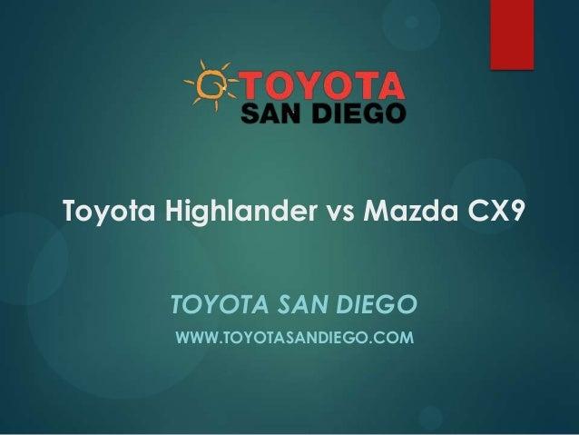 Toyota Highlander vs Mazda CX9