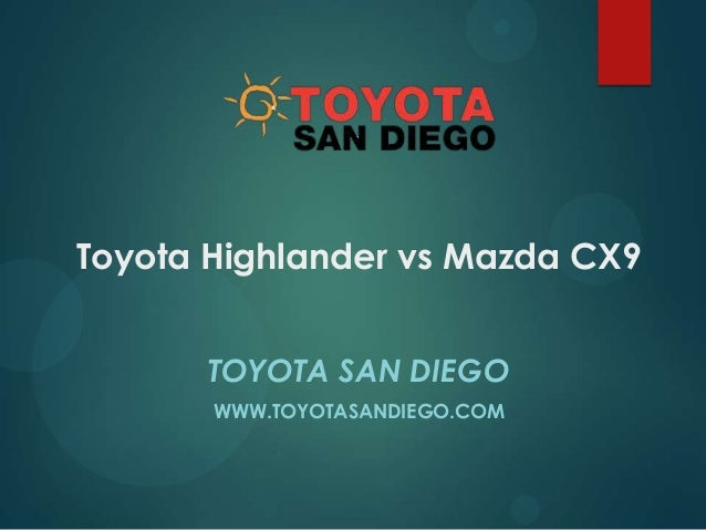 Toyota Highlander vs Mazda CX9