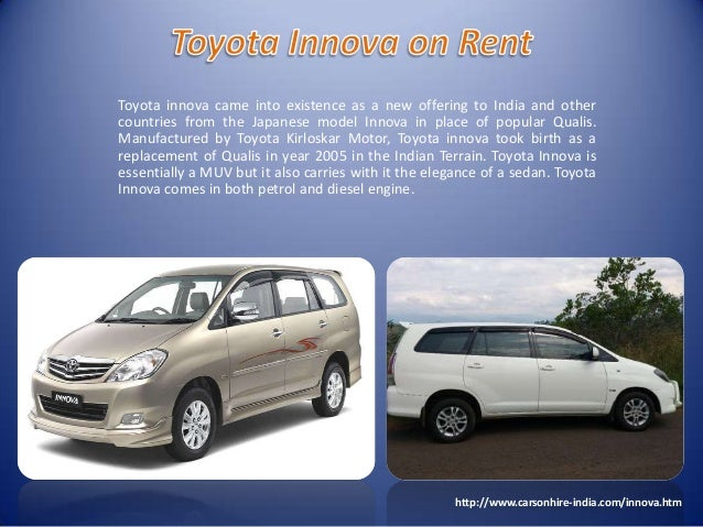 Toyota innova On Rent Delhi
