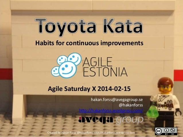 Toyota kata – Agile saturday x 2014 02-15