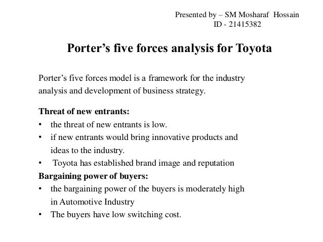 Toyota motor corporation for Porter 5 forces critique