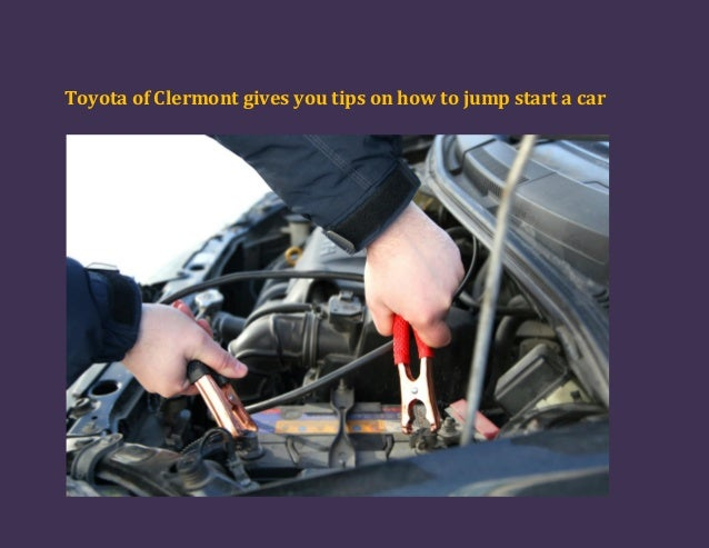 Toyota of Clermont gives you tips on how to jump start a car!