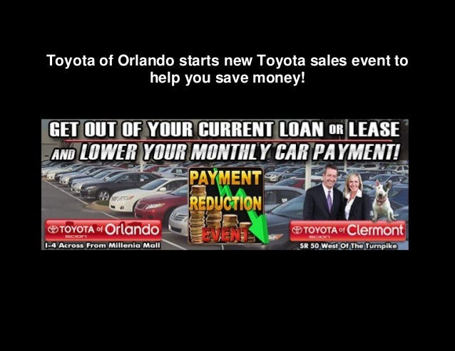 Toyota of Orlando starts new Toyota sales event to help you save money!