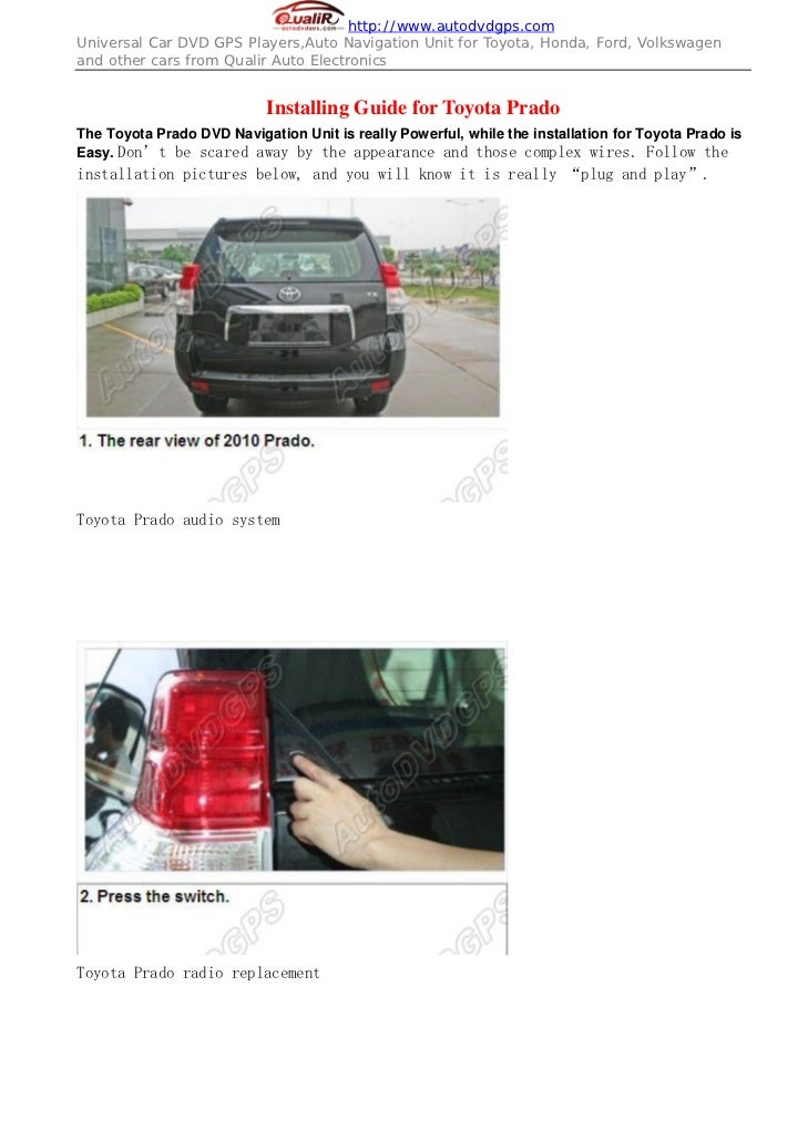 Car Reverse Rearview CCD camera for Toyota Prado + NTSC System installing guides