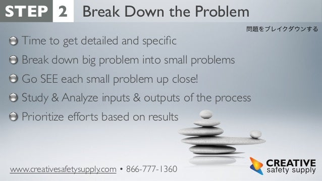 Six problem solving steps