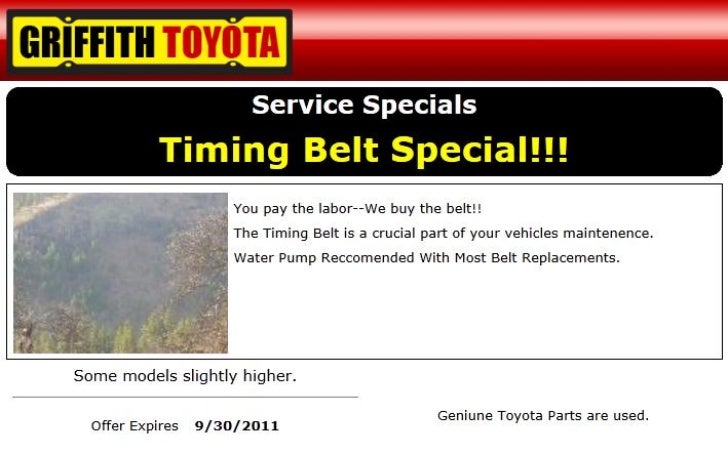 Toyota Timing Belt Service OR | Toyota Service Center Near Portland