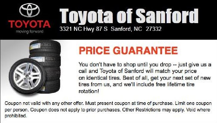 Toyota Tire Price Match NC | Toyota Dealer near Raleigh