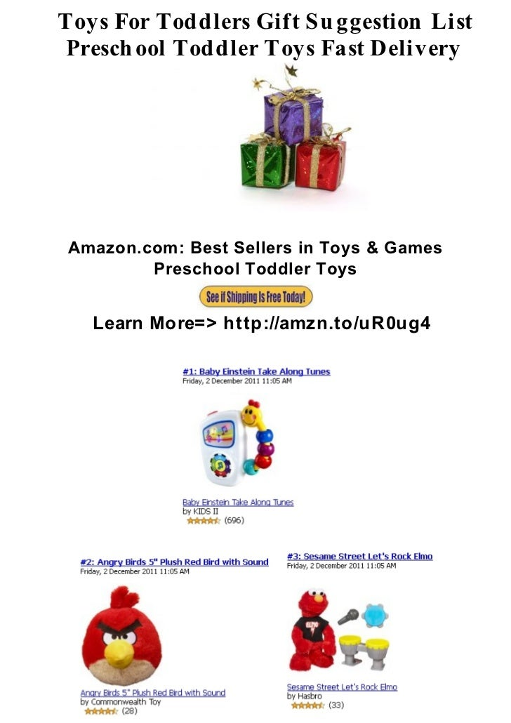 Toys For Toddlers Gift Su ggestion ListPresch ool Toddler Toys Fast DeliveryAmazon.com: Best Sellers in Toys & Games      ...