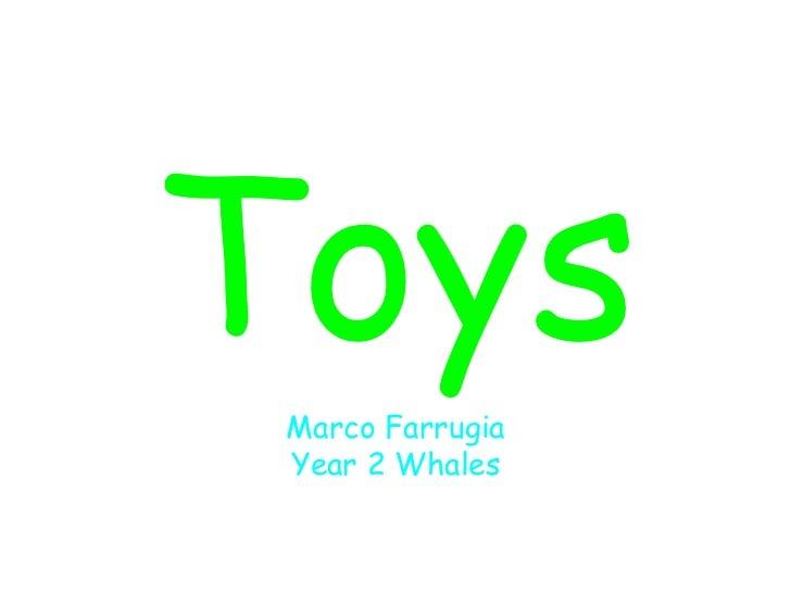 Toys Marco Farrugia Year 2 Whales