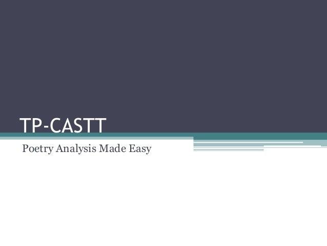 TP-CASTT Poetry Analysis Made Easy