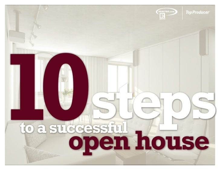 10stepsto a successful      open house