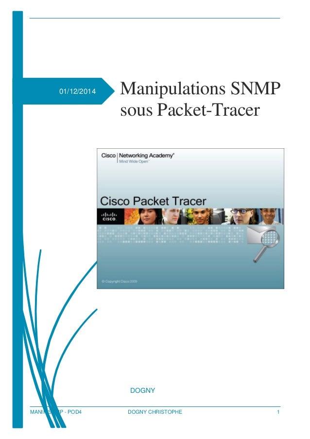 MANIP SNMP - POD4 DOGNY CHRISTOPHE 1 01/12/2014 Manipulations SNMP sous Packet-Tracer [Sous-titre du document] DOGNY [NOM ...