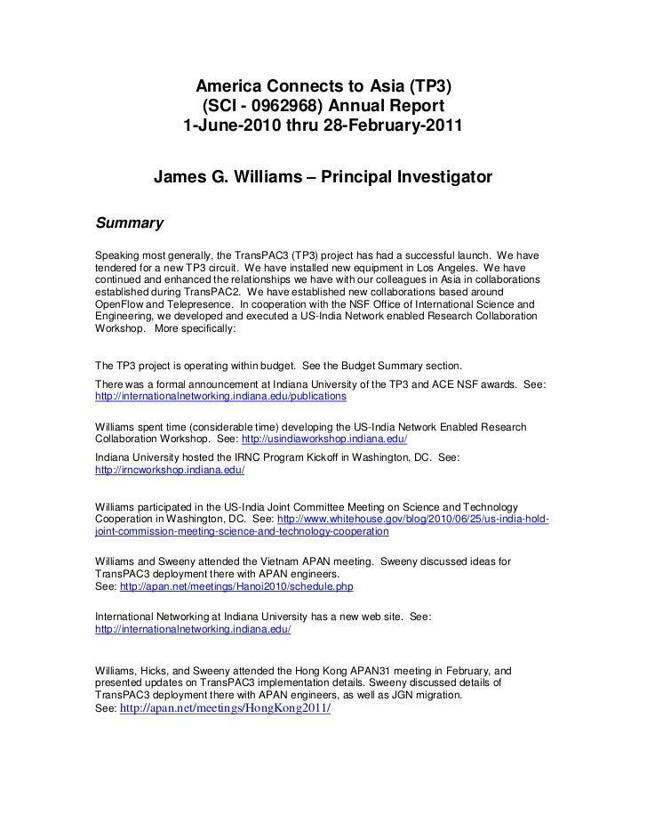 TransPAC3 2010 NSF Annual Report