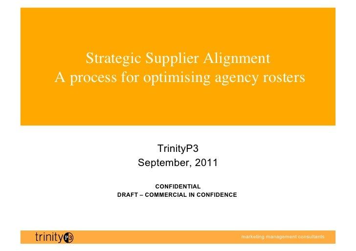 TrinityP3 Strategic Marketing Supplier Alignment Process