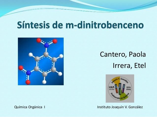 Tp 5 síntesis de m dinitrobenceno-cantero-irrera