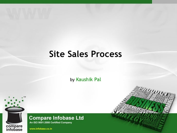 Site Sales Process by  Kaushik Pal