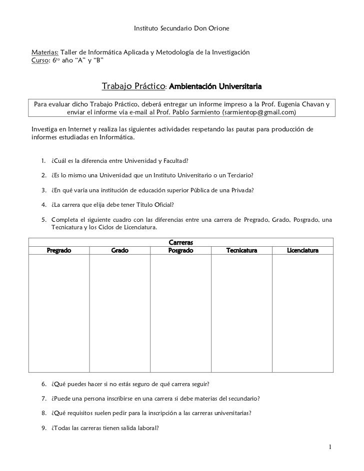 Tp ambientación universitaria - 6to Nat (T.I.A)