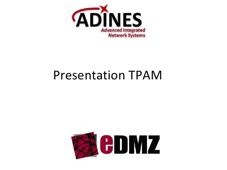 Presentation TPAM<br />