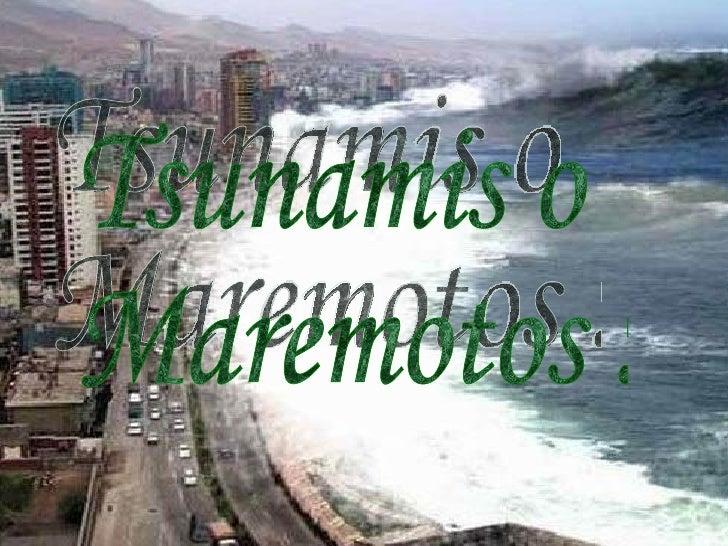 Origen de Tsunamis