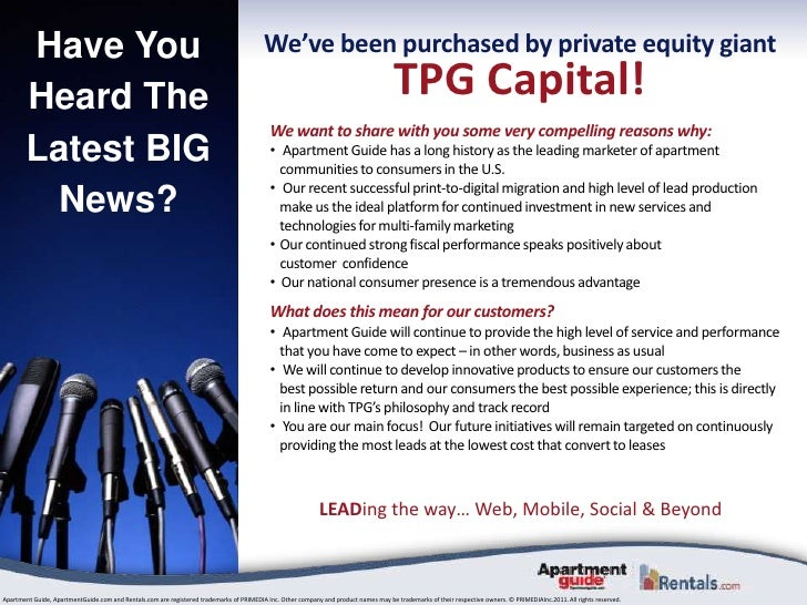 Have You Heard The Latest BIG News?<br />We've been purchased by private equity giant<br />TPG Capital!<br />We want to sh...