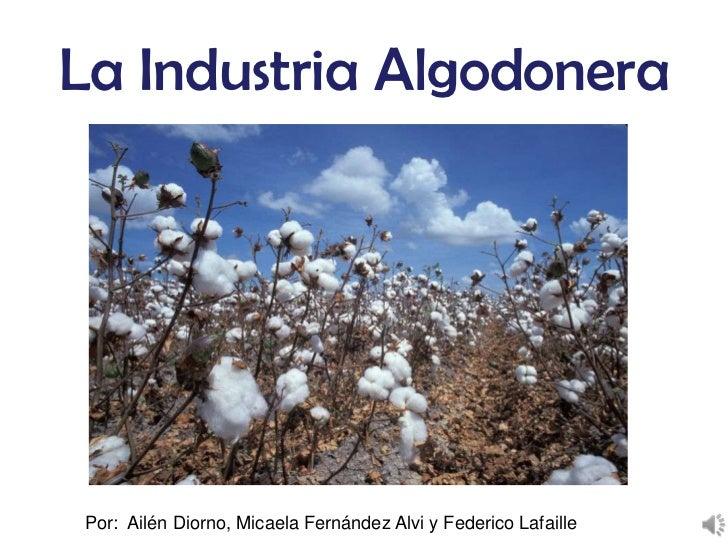 La Industria AlgodoneraPor: Ailén Diorno, Micaela Fernández Alvi y Federico Lafaille
