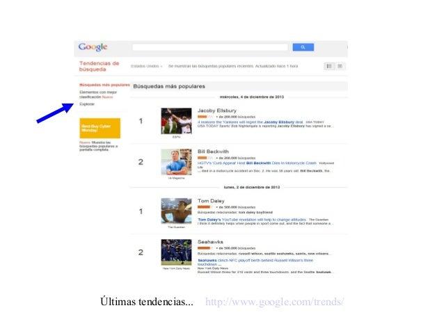Últimas tendencias... http://www.google.com/trends/