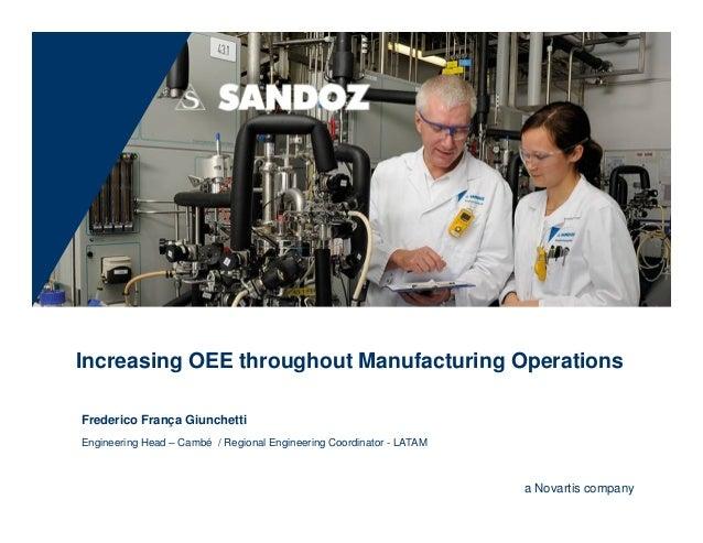 Increasing OEE throughout Manufacturing OperationsFrederico França GiunchettiEngineering Head – Cambé / Regional Engineeri...