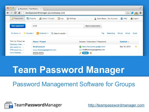 Team Password Manager Password Management Software for Groups http://teampasswordmanager.com