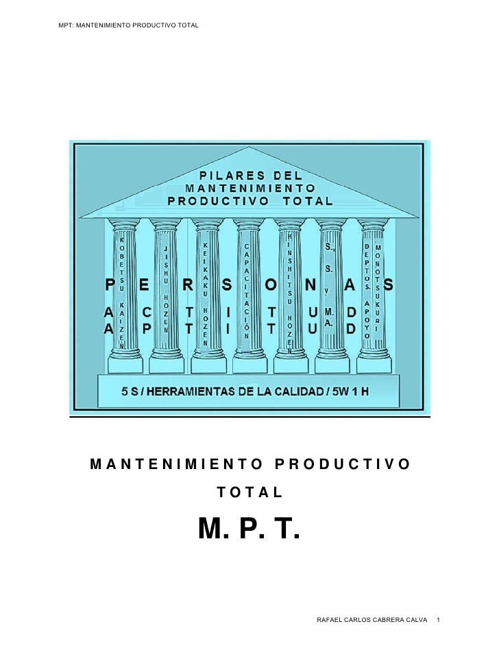 MPT: MANTENIMIENTO PRODUCTIVO TOTAL       MANTENIMIENTO PRODUCTIVO                                      TOTAL             ...
