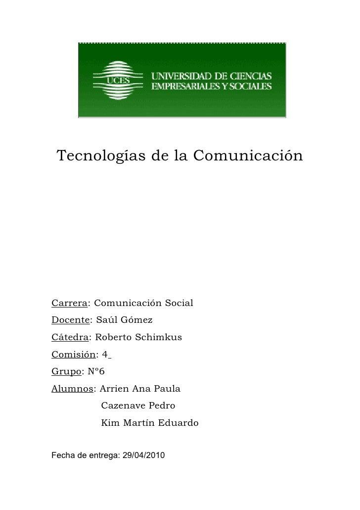 1er Parcial - Viralidad- Grupo6- Marco y plan comunicacion