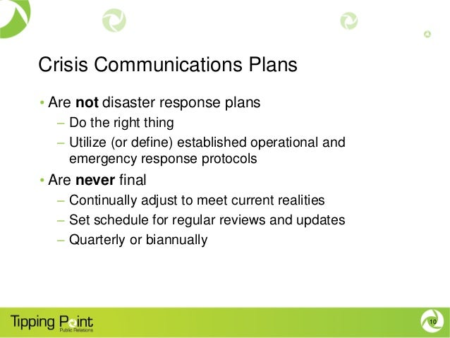 crisis communication plan Crisis communication plan: a pr blue print by sandra k clawson freeo (vfandsc@msncom) short web address for this page: newsplaceorg/crisis.