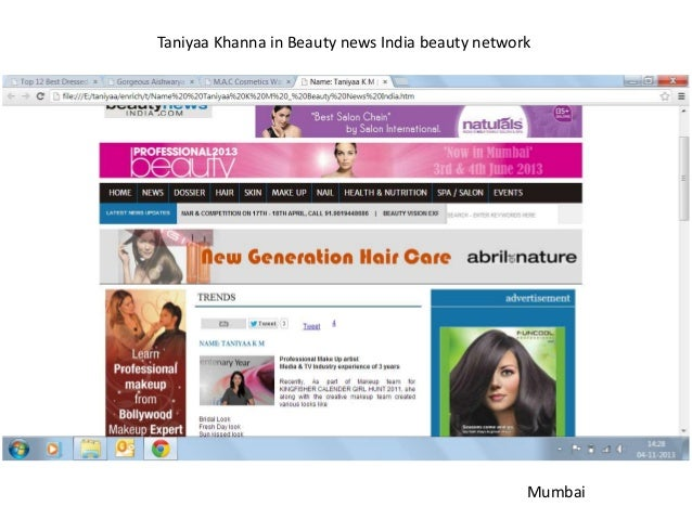 Taniyaa Khanna in Beauty news India beauty network  Mumbai