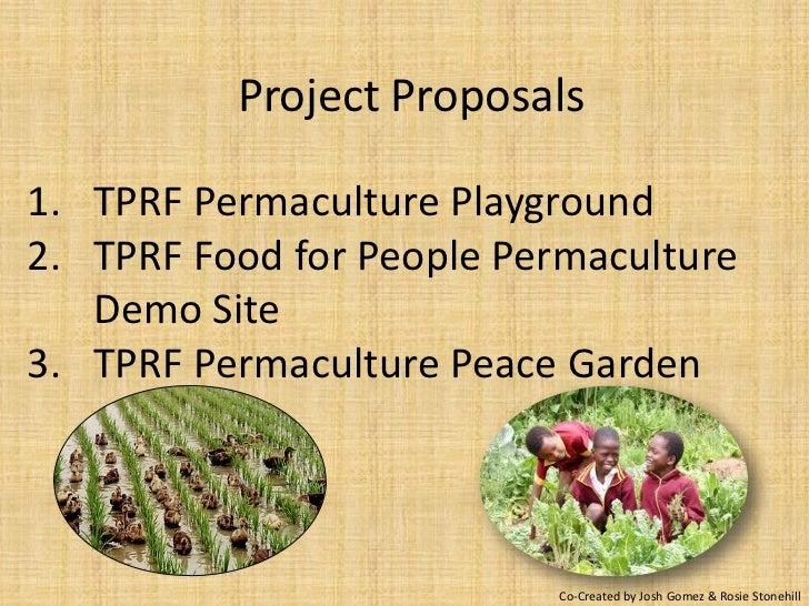 Tprf project proposals