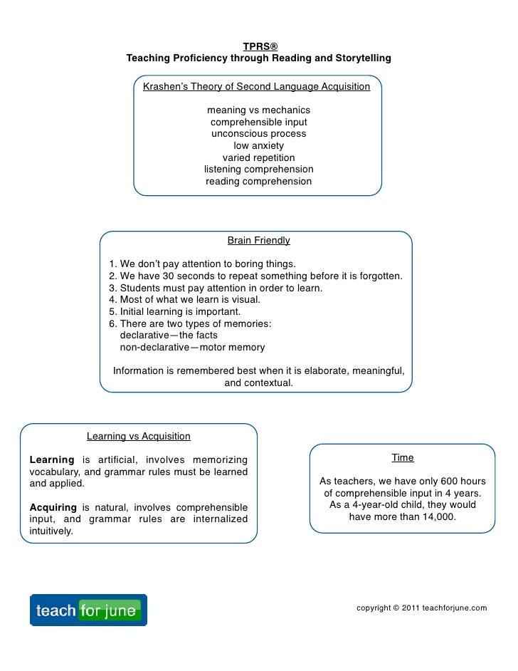 TPRS® Beginning Workshop 2012 Handout