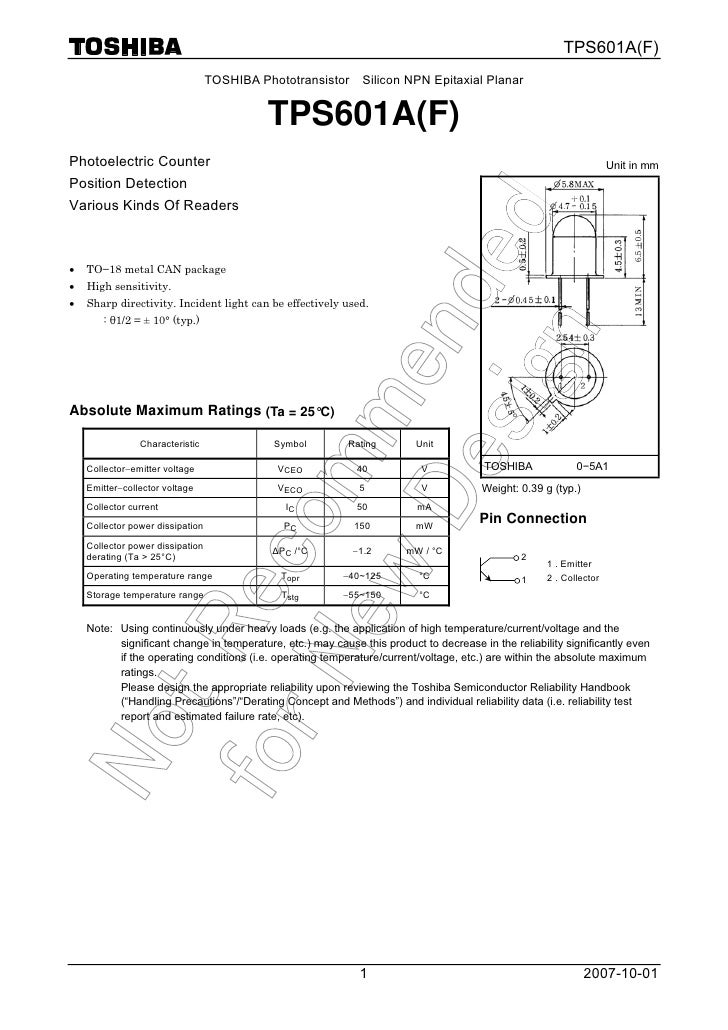 Datasheet of TPS601A(F) in English