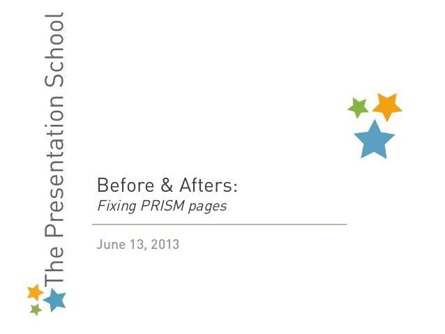 The Presentation School redesigns the NSA PRISM slides