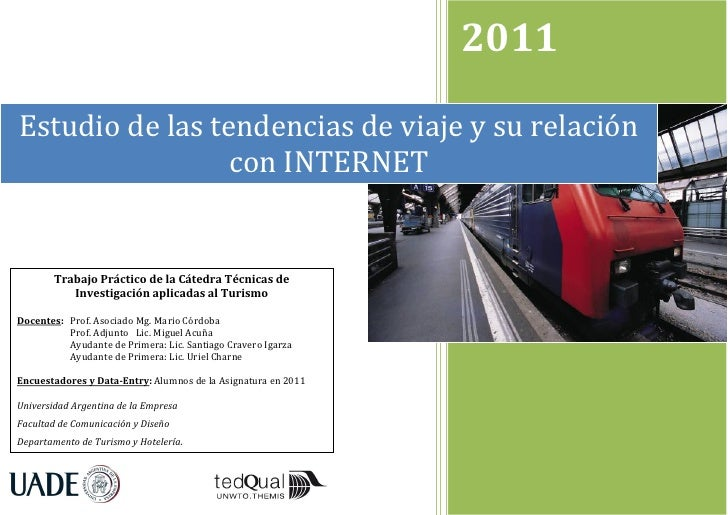 Estudio de las tendencias de viaje y su relación con Internet